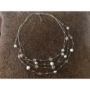 Silver Assorted Beads Necklace